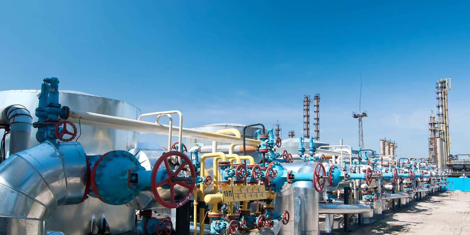 waterworks pipes and valves with gaskets